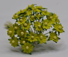 LIME GREEN SINGLE-LAYERED Miniature Daisy (XS) Mulberry Paper Flowers